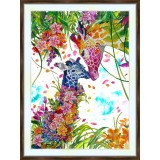 Bead embroidery kit «A-0397 Mother 'n Child Giraffes»