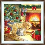 Bead embroidery kit «A-0437 Cozy Christmas Hearth»
