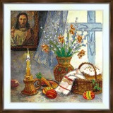 Bead embroidery kit «A-0447 Easter Altar»