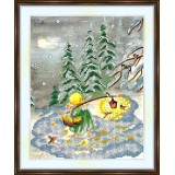 Bead embroidery kit «A-0481 Winter Walk in the Snow»