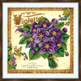 Bead embroidery kit «A-0491 French Violettes»