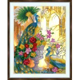 Bead embroidery kit «A-0511 Glorious Peacocks»