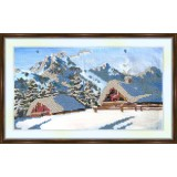 Bead embroidery kit «K-0015 Winter in the Mountains»