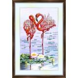 Bead embroidery kit «K-0035 Flamingos»