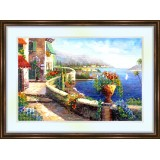 Bead embroidery kit «K-0055 Houses on the Shore»