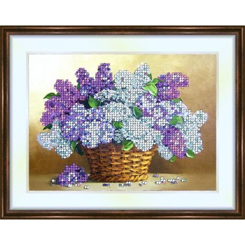 Bead embroidery kit «K-0065 Abundance of Lilacs»