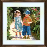 Bead embroidery kit «K-0075 May I Hold Your Hand»