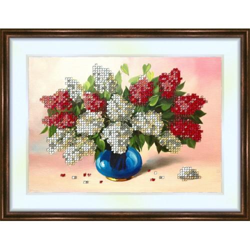 Bead embroidery kit «K-0095 The Blue Vase»