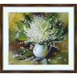 Bead embroidery kit «K-0156 Pitcher of Lilies of the Valley»