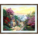 Bead embroidery kit «K-0176 Road after a Rainstorm»