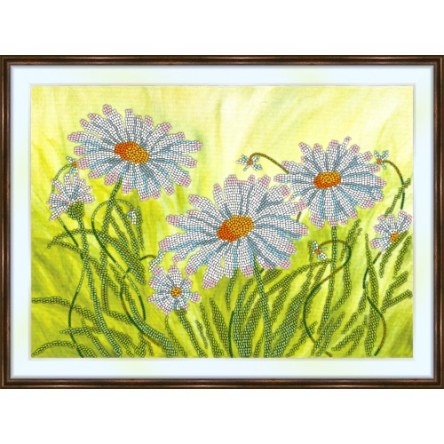 Bead embroidery kit «K-0216 Chamomile in the Field»