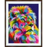 Cross stitch kit «S-0043 Rainbow Lion»