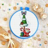 Cross stitch kit «T-0166 Little Santa»