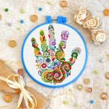Cross stitch kit «T-0186 Mandala Hand»