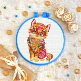 Cross stitch kit «T-0197 Mandala Kitty»