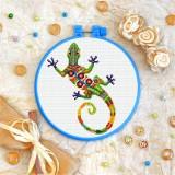 Cross stitch kit «T-0207 Mandala Lizard»