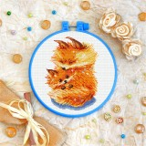 Cross stitch kit «T-0301 Mother and Child Foxes»