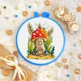 Cross stitch kit «T-0326 Mushroom House»