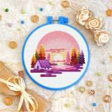 Cross stitch kit «T-0404 Pink Sunset»