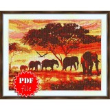Cross stitch pattern «pdf-S-0016 Africa»