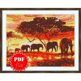 Cross stitch pattern «pdf-S-0016 Africa»