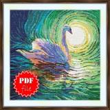 Cross stitch pattern «pdf-S-0037 Swan»