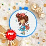 Cross stitch pattern «pdf-T-0056 Summer Bouquet»