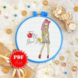 Cross stitch pattern «pdf-T-0126 Today is a Good Day»