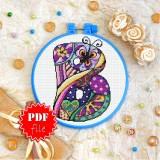 Cross stitch pattern «pdf-T-0168 Letter B»