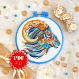 Cross stitch pattern «pdf-T-0178 Mandala Lamb»