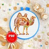 Cross stitch pattern «pdf-T-0221 Mandala Camel»