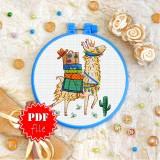 Cross stitch pattern «pdf-T-0234 Funny Llama»