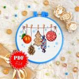 Cross stitch pattern «pdf-T-0254 Christmas Gifts»