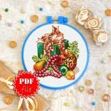 Cross stitch pattern «pdf-T-0287 Christmas Candle»