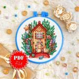 Cross stitch pattern «pdf-T-0313 Gingerbread House»