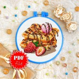 Cross stitch pattern «pdf-T-0344 Belgian Waffles»