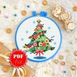 Cross stitch pattern «pdf-T-0353 Christmas Tree»