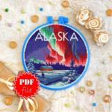 Cross stitch pattern «pdf-T-0425 Alaska»