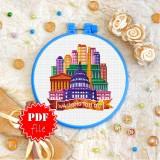 Cross stitch pattern «pdf-T-0435 Washington DC»