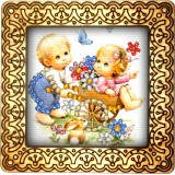 Magnet bead embroidery kit «M-0034 First Date»