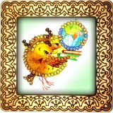 Magnet bead embroidery kit «M-0054 Owlet and the World»