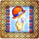 Magnet bead embroidery kit «M-0064 Posting a Letter»