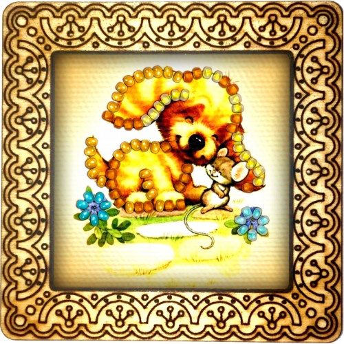 Magnet bead embroidery kit «M-0104 Making Friends»