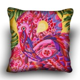 Pillow cross stitch kit «H-0011 Flashy Flamingo»
