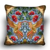 Pillow cross stitch kit «H-0021 Lovely Lovebirds»