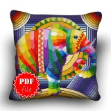 Pillow Cross stitch pattern «pdf-H-0007 Elegant Elephant»