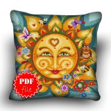 Pillow Cross stitch pattern «pdf-H-0027 Sartorial Sol»