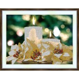 Bead embroidery kit «A-0016 Christmas Candles»