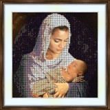 Bead embroidery kit «A-0067 A Madonna and Child»