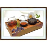 Bead embroidery kit «A-0097 Chinese Tea Service With Lavender»